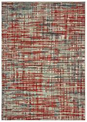 Oriental Weavers Montage 5503x Grey - Red Area Rug