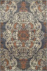 Oriental Weavers Pasha 8022k Blue - Rust Area Rug