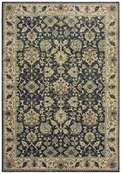 Oriental Weavers Raleigh 8026p Navy - Ivory Area Rug