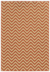 Oriental Weavers Riviera 4593p Orange Area Rug