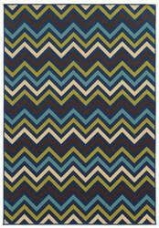 Oriental Weavers Riviera 4593s Navy Area Rug