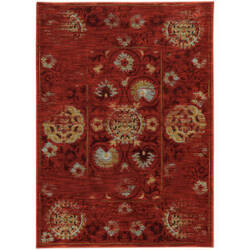 Oriental Weavers Sedona 6386e Red Area Rug