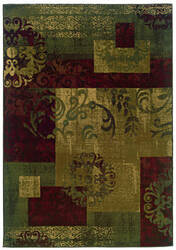 Oriental Weavers Tybee 851u6 Green Area Rug
