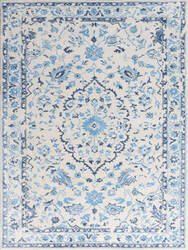 Ramerian Arthurine 500-ART White - Blue Area Rug