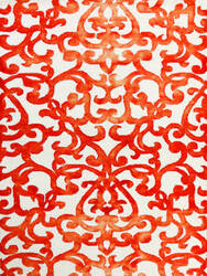 Ramerian Sherri 700-SHI White - Orange Area Rug