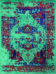 Ramerian Silana 1700-SIL Turquoise Area Rug