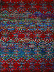 Ramerian Silana 2600-SIL Blue - Red Area Rug