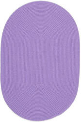 Rhody Rugs Happy Braids Hb15 Solid Violet Area Rug