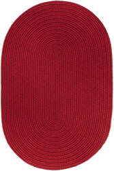 Rhody Rugs Wearever S045 Brilliant Red Area Rug