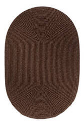 Rhody Rugs Solid S116 Walnut Area Rug
