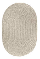 Rhody Rugs Solid S123 Light Gray Area Rug