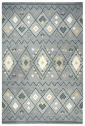 Rizzy Tumble Weed Loft Tl646a Grey Blue Area Rug