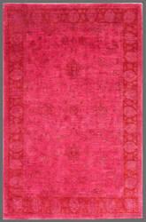 Rugstudio Overdyed 449415-616 Pink Area Rug