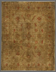 Rugstudio Overdyed 449429-616 Green-Gold Area Rug