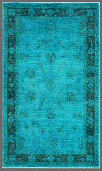 Rugstudio Overdyed 449449-616 Blue Area Rug