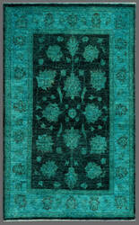 Rugstudio Overdyed 449453-616 Green Area Rug