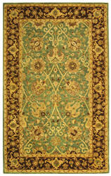 Safavieh Antiquities AT21H Green / Brown Area Rug