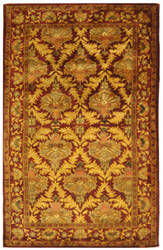 Safavieh Antiquities AT54A Wine / Gold Area Rug