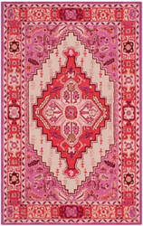 Safavieh Bellagio Blg545a Red Pink - Ivory Area Rug