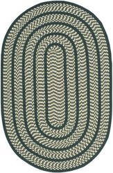 Safavieh Braided Brd401b Ivory / Dark Green Area Rug