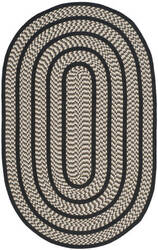 Safavieh Braided Brd401c Ivory / Black Area Rug