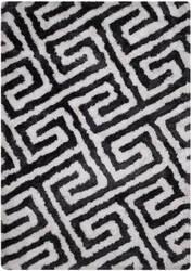 Safavieh Barcelona Shag Bsg323d Graphite / White Area Rug