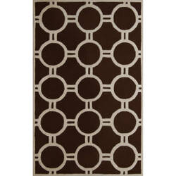 Safavieh Cambridge CAM145H Dark Brown / Ivory Area Rug