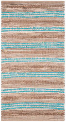 Safavieh Cape Cod Cap862d Natural - Teal Area Rug