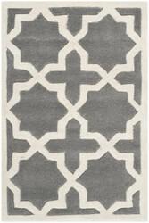 Safavieh Chatham Cht732d Dark Grey / Ivory Area Rug