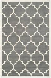 Safavieh Chatham Cht733d Dark Grey / Ivory Area Rug