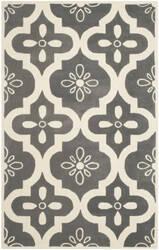Safavieh Chatham Cht751d Dark Grey / Ivory Area Rug