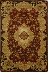 Safavieh Classic CL234A Rust / Green Area Rug