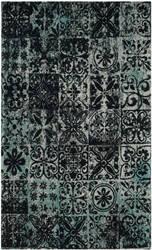 Safavieh Classic Vintage Clv221a Teal - Black Area Rug