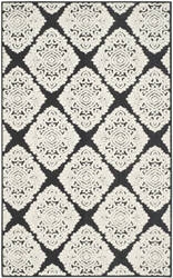Safavieh Cottage Cot907e Anthracite - Cream Area Rug