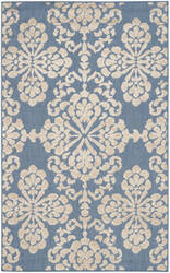 Safavieh Cottage Cot908f Light Blue - Beige Area Rug