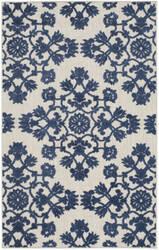 Safavieh Cottage Cot910b Light Grey - Royal Blue Area Rug