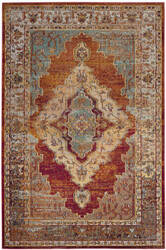 Safavieh Crystal Crs500a Orange - Light Blue Area Rug