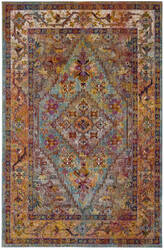 Safavieh Crystal Crs507a Light Blue - Orange Area Rug