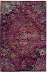 Safavieh Crystal Crs512s Fuchsia - Purple Area Rug
