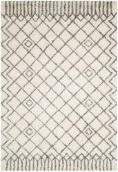 Safavieh Casablanca Shag Csb894c Ivory - Grey Area Rug