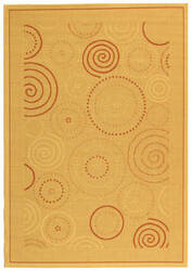 Safavieh Courtyard Cy1906-3201 Natural / Terracotta Area Rug