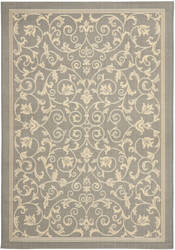 Safavieh Courtyard Cy2098-3606 Grey / Natural Area Rug