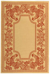 Safavieh Courtyard Cy3305-3701 Natural / Red Area Rug