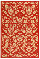 Safavieh Courtyard Cy3416-3707 Red / Natural Area Rug