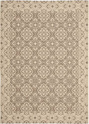 Safavieh Courtyard Cy6550-22 Brown / Creme Area Rug