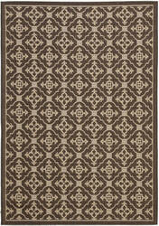 Safavieh Courtyard Cy6564-204 Chocolate / Cream Area Rug