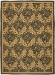 Safavieh Courtyard Cy6582-46 Black / Natural Area Rug