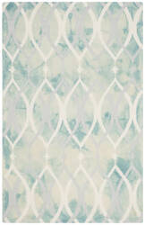Safavieh Dip Dyed Ddy534q Green - Ivory Grey Area Rug