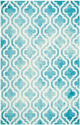 Safavieh Dip Dye Ddy537d Turquoise - Ivory Area Rug