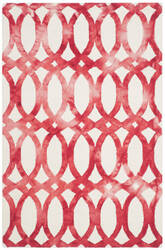 Safavieh Dip Dyed Ddy675c Ivory - Red Area Rug